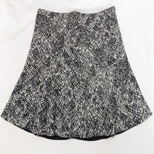 Zara Woman Mini Skirt Black White Crosshatch